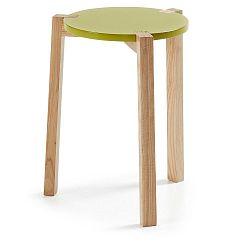 Zelený odkládací stolek La Forma Elroy