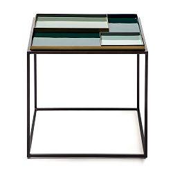 Zelený odkládací stolek s 2 tácy 360 Living Caira