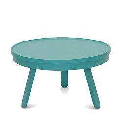 Zelený odkládací stolek z jasanového dřeva s úložným prostorem Woodendot Batea M