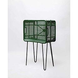 Zelený odkládací stolek z recyklovaného plastu Really Nice Things Eco