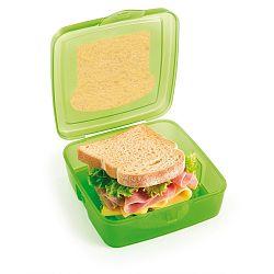 Zelený svačinový box na sendvič s chladičem Snips Sandwich