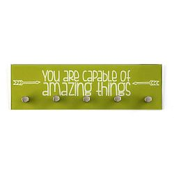 Zelený věšák na klíče Versas Amazing