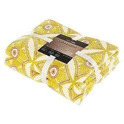 Žlutá deka z mikrovlákna DecoKing Acantus, 150x180cm