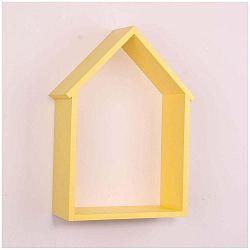 Žlutá dřevěná nástěnná polička North Carolina Scandinavian Home Decors House