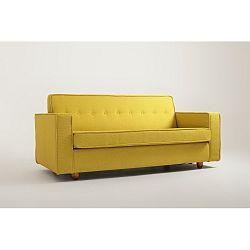 Žlutá dvoumístná pohovka Custom Form Zugo
