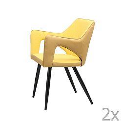 Žlutá jídelní židle 360 Living Sina