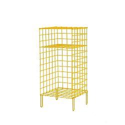 Žlutá kovová úložná skříňka Really Nice Things, 35 x 55 cm
