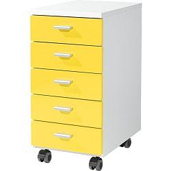 Žlutá skříňka na kolečkách Germania Rolling, 28 x 57 cm