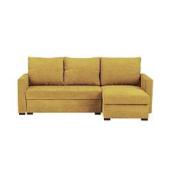 Žlutá třímístná variabilní rohová rozkládací pohovka s úložným prostorem Melart Andy