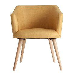 Žlutá židle Last Deco Skipton