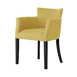 Žlutá židle s černými nohami Ted Lapidus Maison Santal