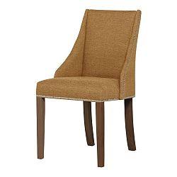 Žlutá židle s tmavě hnědými nohami Ted Lapidus Maison Patchouli