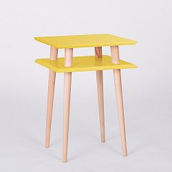 Žlutý konferenční stolek Ragaba Square, 43x43cm