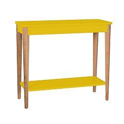 Žlutý konzolový stolek Ragaba Ashme, šířka85cm