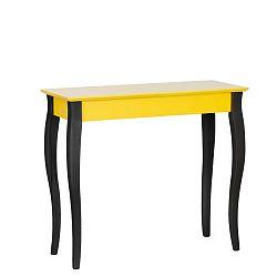 Žlutý konzolový stolek s černými nohami Ragaba Lilo, šířka 85cm