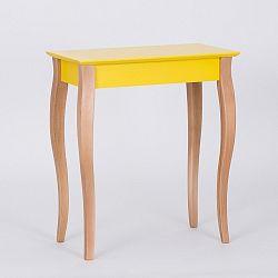 Žlutý odkládací stolek Ragaba Console,délka65cm