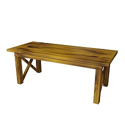 Žlutý odkládací stolek z borovicového masivu Ricco