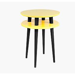 Žlutý příruční stolek s černými nohami Ragaba UFO, Ø45cm
