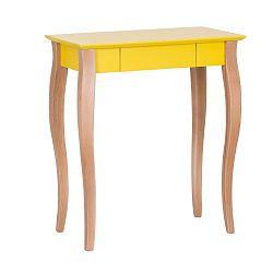 Žlutý psací stůl Ragaba Lillo,délka65 cm