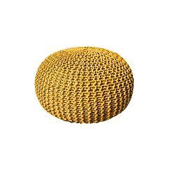 Žlutý puf Dedalo, ⌀ 50cm