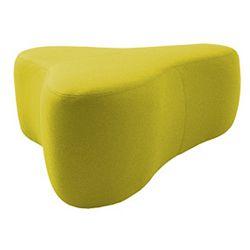 Žlutý puf Softline Chat Felt Melange Yellow, délka 130 cm