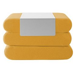 Žlutý rozkládací puf Softline Bingo Eco Cotton Yellow