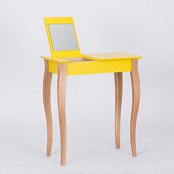 Žlutý toaletní stolek se zrcadlem Ragaba Dressing Table,délka65cm