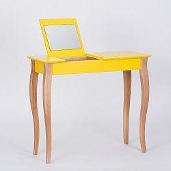 Žlutý toaletní stolek se zrcadlem Ragaba Dressing Table,délka85cm