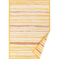 Žlutý vzorovaný oboustranný koberec Narma Saara, 70x140cm