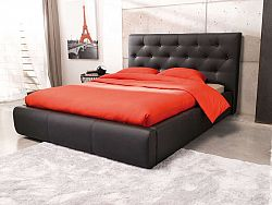 Aspol JASMINE, postel 160x200, černá ekokůže