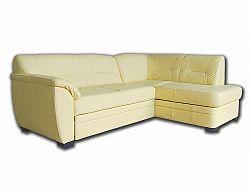 Aspol Kožená rohová sedačka NEVADA, krémová, pravá