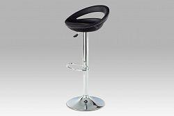 Autronic Barová židle AUB-103 BK, chrom/koženka černá