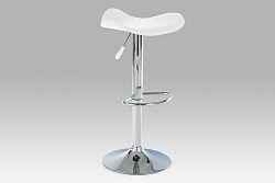 Autronic Barová židle, chrom/koženka bílá AUB-300 WT