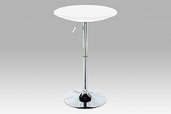 Autronic Barový stůl, bílá / chrom, AUB-5010 WT