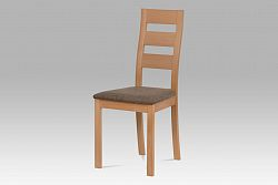 Autronic Dřevěná židle BC-2603 BUK3, buk/potah hnědý