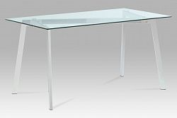 Autronic Jídelní stůl 150x80, čiré sklo / chrom, GDT-510 CLR