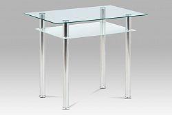 Autronic Jídelní stůl 90x60 cm, sklo + chrom  GDT-111 CLR