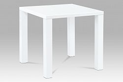 Autronic Jídelní stůl AT-3005 WT 80x80 cm, vysoký lesk bílý