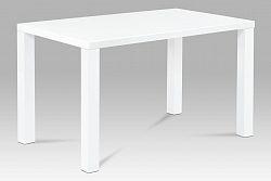 Autronic Jídelní stůl AT-3006 WT 120x80 cm, vysoký lesk bílý