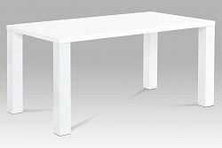 Autronic Jídelní stůl AT-3008 WT 160x90 cm, vysoký lesk bílý