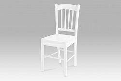 Autronic Jídelní židle AUC-005 WT, celodřevěná, bílá