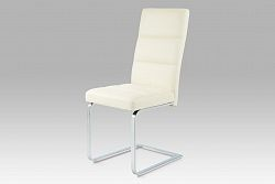 Autronic Jídelní židle B931N CRM, koženka krémová/chrom