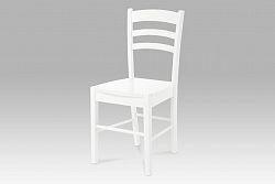 Autronic Jídelní židle celodřevěná, bílá AUC-004 WT