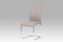 Autronic Jídelní židle, chrom / koženka lanýžová DCL-407 LAN