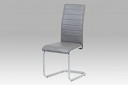 Autronic Jídelní židle DCL-102 GREY, šedá/šedý lak