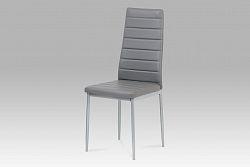 Autronic Jídelní židle DCL-117 GREY, šedá/šedý lak