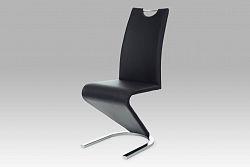 Autronic Jídelní židle HC-790 BK, chrom/koženka černá