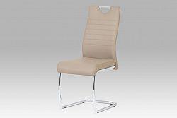 Autronic Jídelní židle, koženka cappuccino / chrom DCL-418 CAP