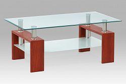 Autronic Konferenční stůl kov AF-1024 třešeň/sklo