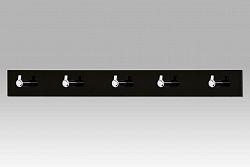 Autronic Nástěnný věšák - 5 háčků, černý akrylát / chrom, GC3503-5 BK